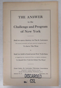 The Answer to the Challenge and Program of New York