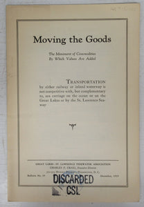 Moving the Goods: The Movement of Commodities By Which Values Are Added