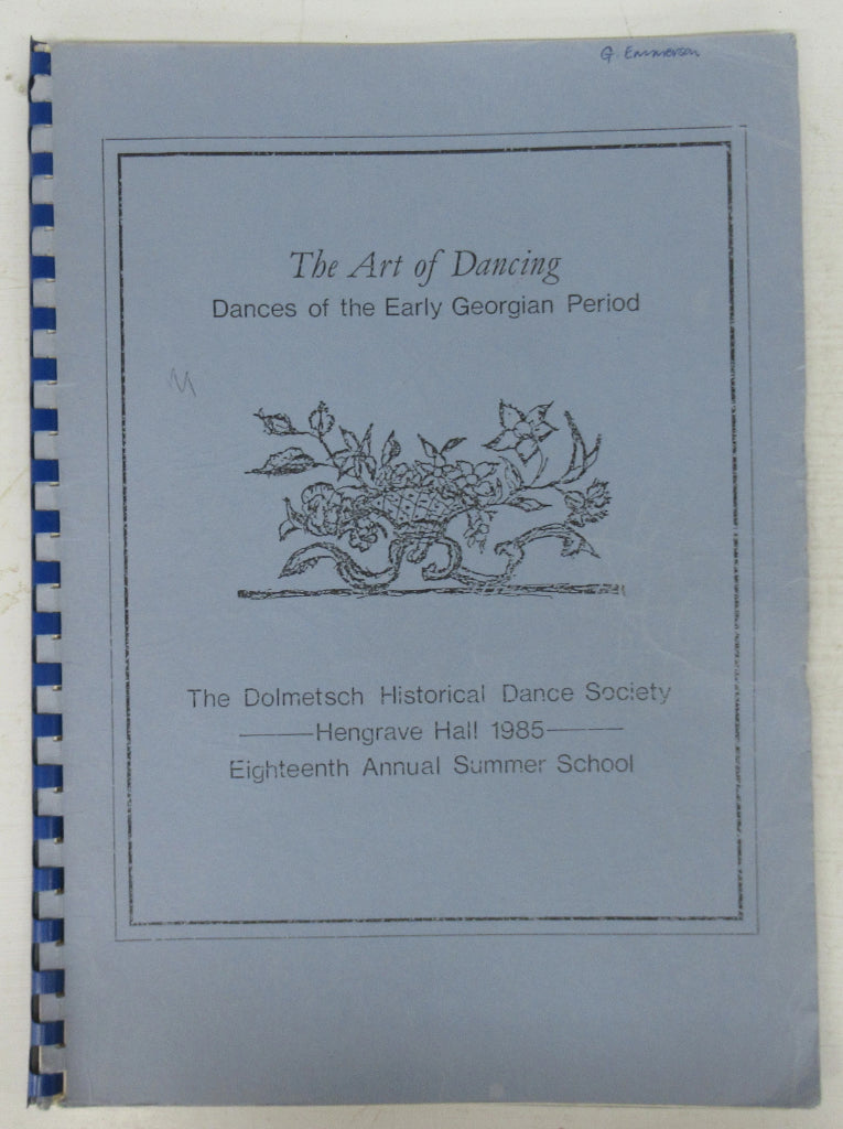 The Art of Dancing: Dances of the Early Georgian Period