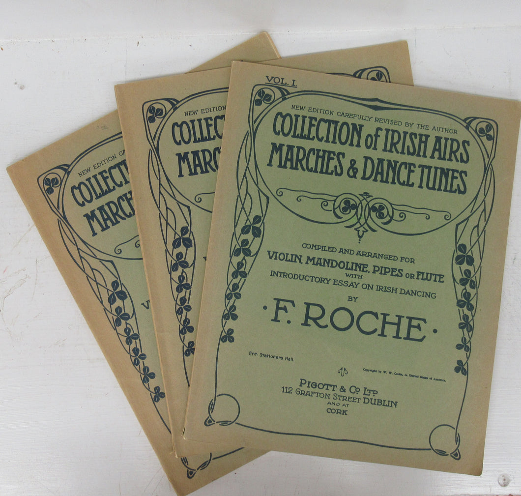 Collection of Irish Airs, Marches & Dance Tunes, Compiled and Arranged for Violin, Mandoline, Pipes or Flute with Introductory Essay on Irish Dancing. 3 vols.