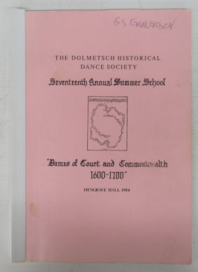 Dances of Court and Commonwealth 1600-1700