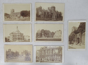 7 carte-de-visite views of Ipswich buildings