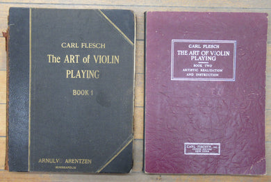 The Art of Violin Playing. Book One: Technique in General. Applied Technique. Book Two: Artistic Realization and Instruction