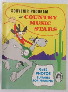 Souvenir Program of Country Music Stars
