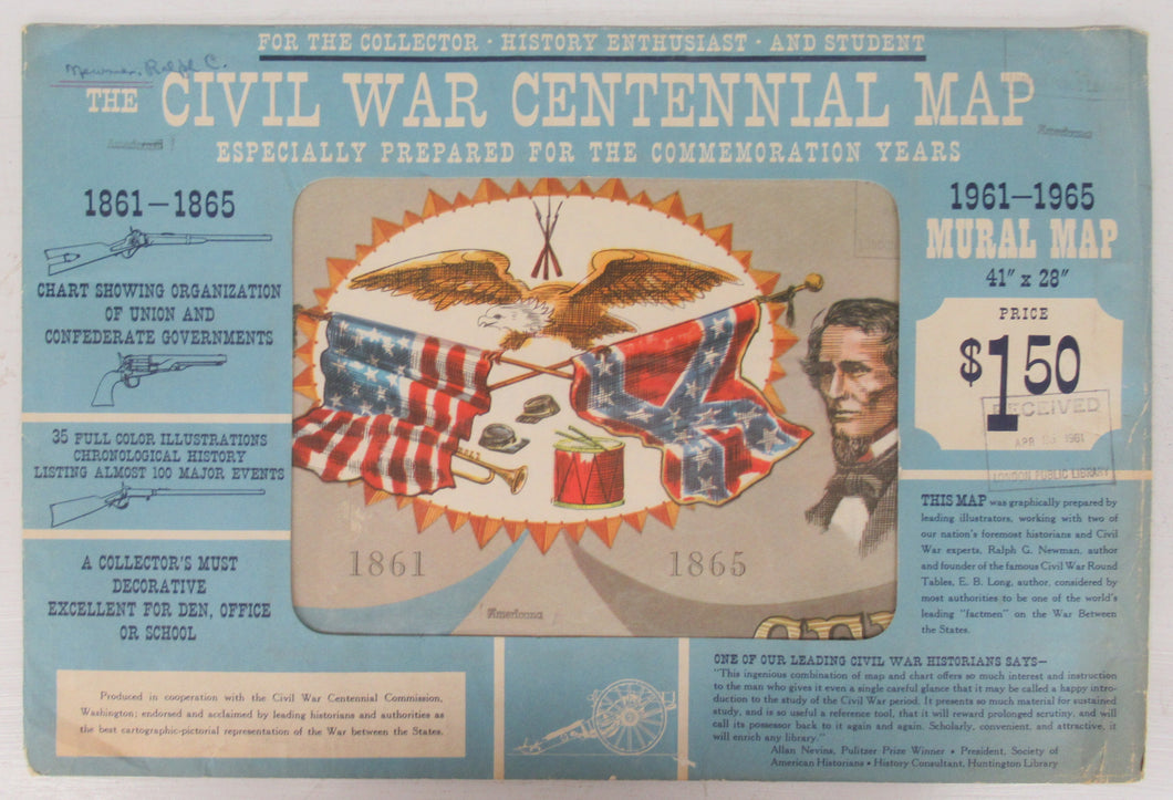 The Civil War Centennial Map, Especially Prepared for the Commemoration Years
