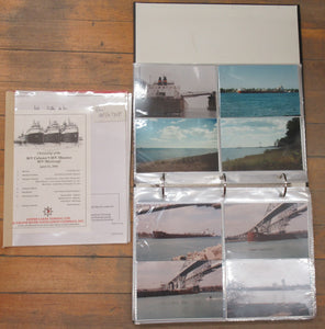 4 binders of Great Lakes shipping photos & related materials