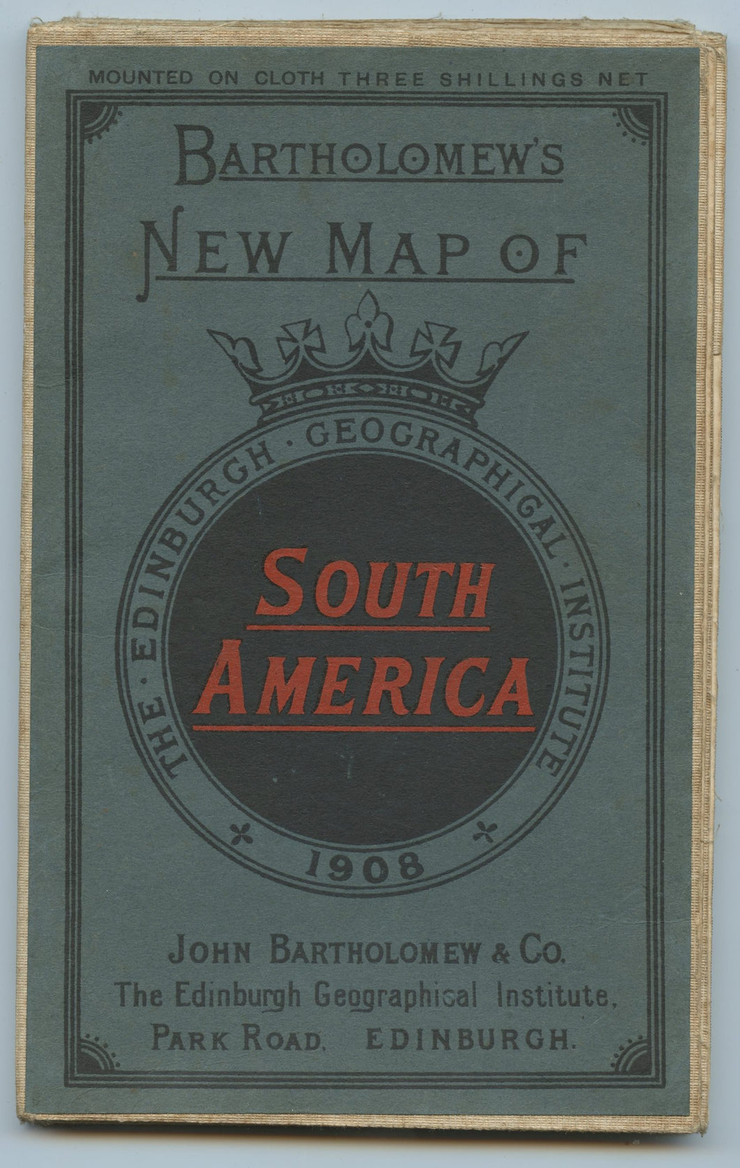 Bartholomew's New Map of South America