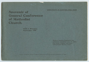 Souvenir of General Conference of Methodist Church Held at Winnipeg, September, 1902