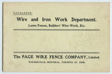Page Wire Fence Company catalogue