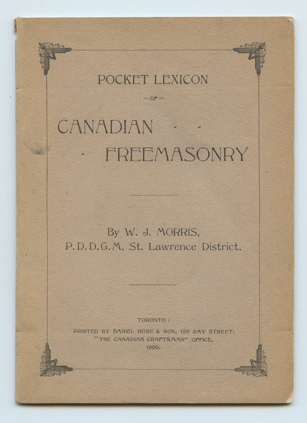 Pocket Lexicon of Canadian Freemasonry