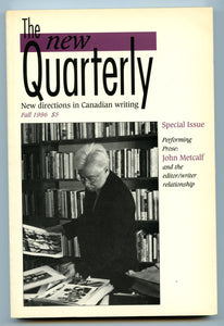 The New Quarterly, Fall 1996