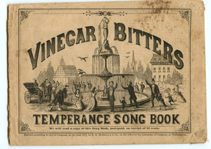 Vinegar Bitters Temperance Song Book