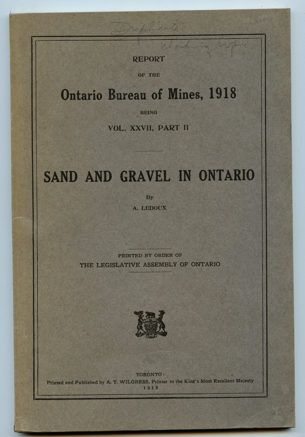 Sand and Gravel in Ontario