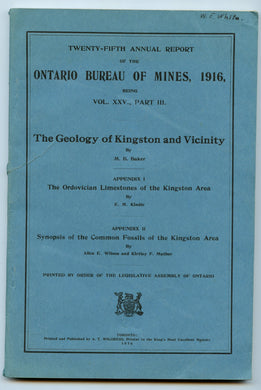The Geology of Kingston and Vicinity