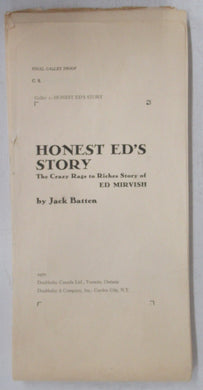Honest Ed's Story: The Crazy Rags to Riches Story of Ed Mirvish