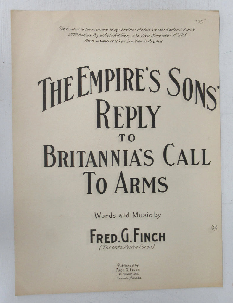 The Empire's Sons Reply to Britannia's Call To Arms