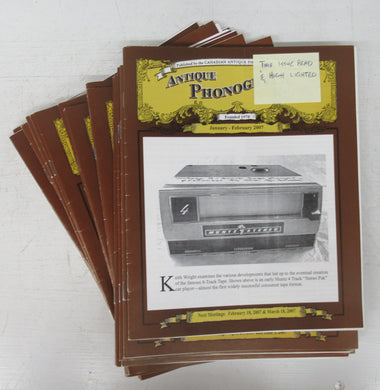Antique Phonograph News 2007-10