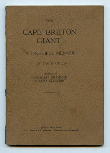 The Cape Breton Giant: A Truthful Memoir
