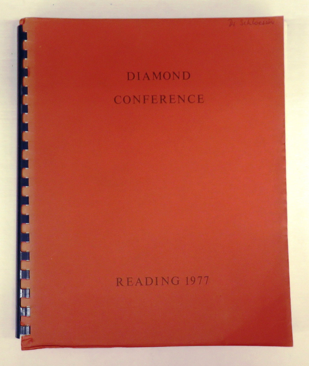 Diamond Conference: Reading 1977