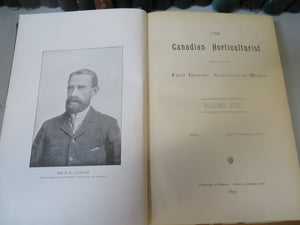 The Canadian Horticulturist. 1879-1904