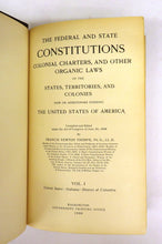 American Charters, Constitutions and Organic Laws: 1492-1908