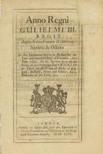Anno Septimo & Octavo Gulielmi III. Regis. An Act for Continuing several former Acts for Punishing Officers and Soldiers who shall Mutiny or Desert His Majesties Service, and for Punishing False Musters, and for Payment of Quarters, for One Year longer