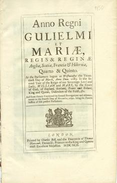 Anno Quarto & Quinto Gulielmi & Mariae. An Act for Continuing the Acts for Prohibiting all Trade and Commerce with France, and for the Encouragement of Privateers