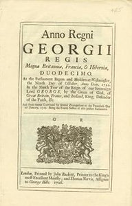 Anno Duodecimo Georgii Regis. An Act for repealing the Duty laid upon Snuff, by an Act made in the Eighth Year of Her late Majesty's Reign, and for ascertaining the Rates according to which the remaining Duties are to be paid.