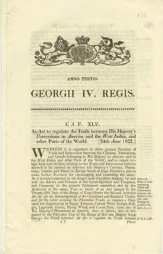 An Act to regulate the Trade between His Majesty's Possessions in America and the West Indies, and other Parts of the World