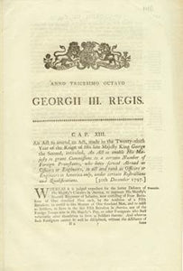 An Act to amend an Act, made in the Twenty-ninth Year of the Reign of His late Majefty King George the Second, intituled, An Act to enable His Majefty to grant Commissions to a certain Number of Foreign Protestants