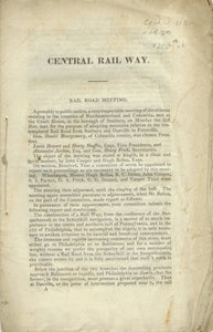 Central Rail Way booklet