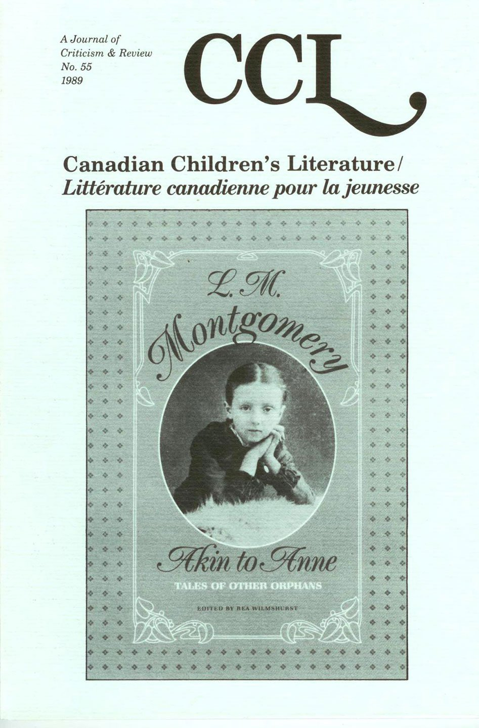Canadian Children's Literature: A Journal of Criticism & Review: L. M. Montgomery Bibliography