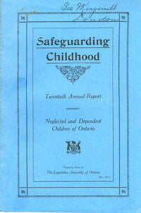 Safeguarding Childhood: Neglected and Dependent Children of Ontario