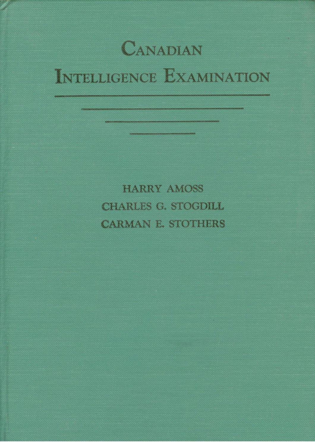Canadian Intelligence Examination
