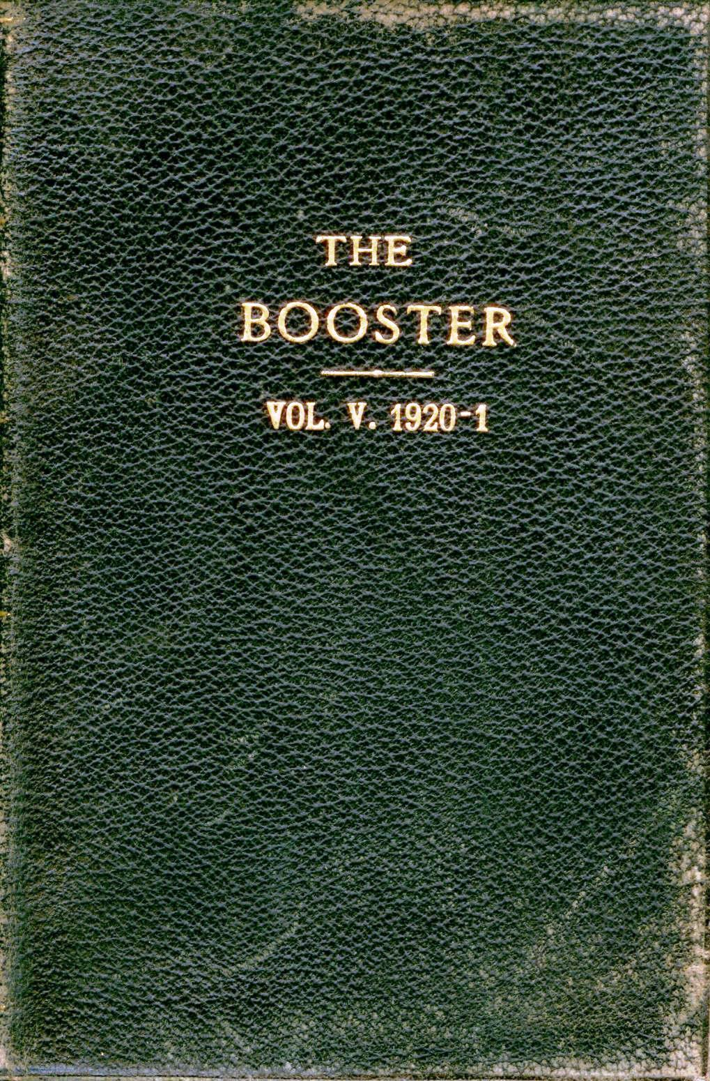 100-Ton Booster.  Volume 5, 1920-21