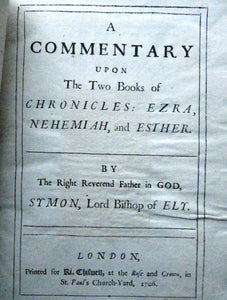 A Commentary Upon The Two Books of Chronicles: Ezra, Nehemiah, and Esther