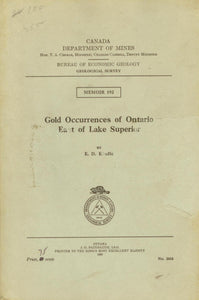 Gold Occurrences of Ontario East of Lake Superior