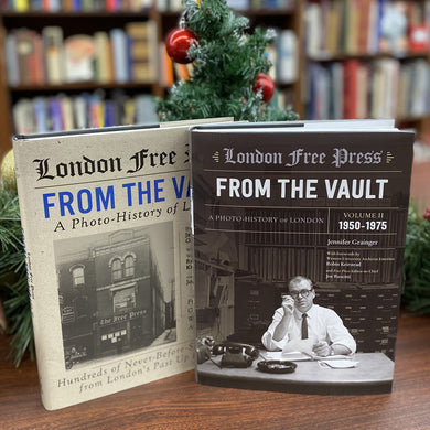 2 volume set of London Free Press. From The Vault: A Photo-History of London.