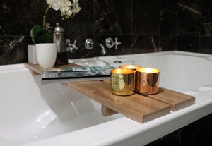 Bath Caddy | Double Plank Bath Caddy