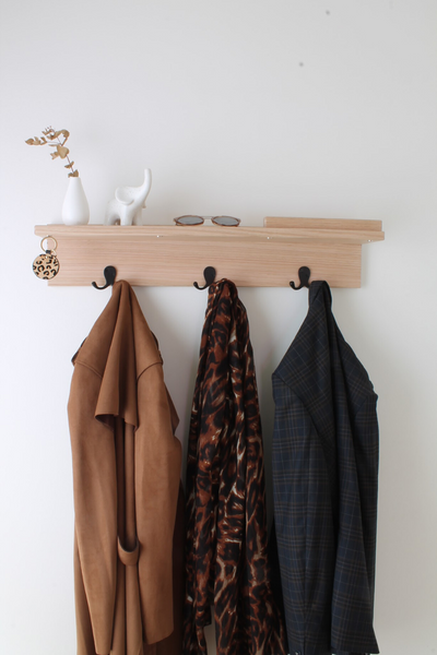 Entry Way Organiser | Floating Entryway Shelf | Letter Holder | Hooks