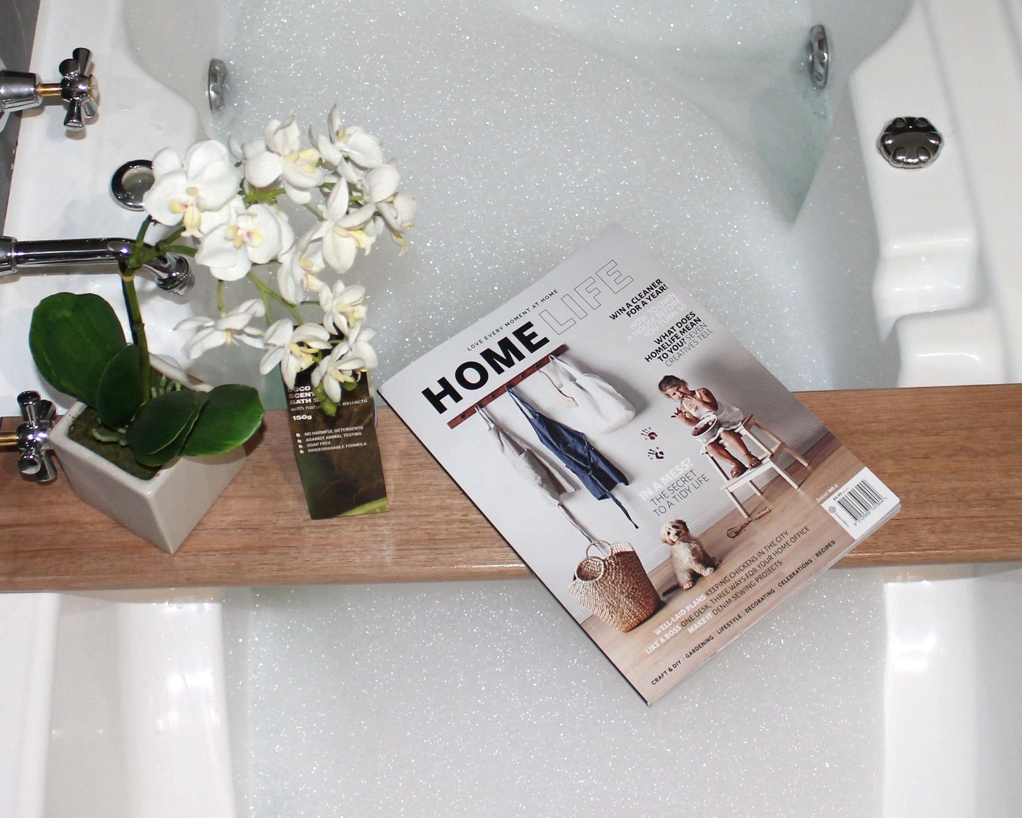 Bath Caddy | Single Plank