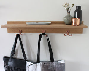 Entry Way Organiser | Floating Entryway Shelf | Hooks