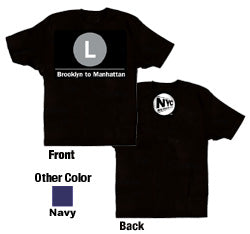 L (Brooklyn to Manhattan) Youth T-Shirt