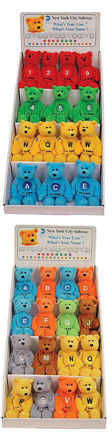 Subway Line Beanie Bears