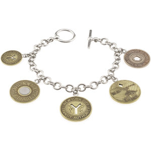 Tokens (5 New York City) Charm Bracelet (Sterling Silver)