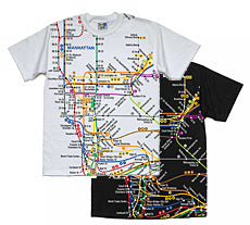 Subway Map (Manhattan) T-Shirt
