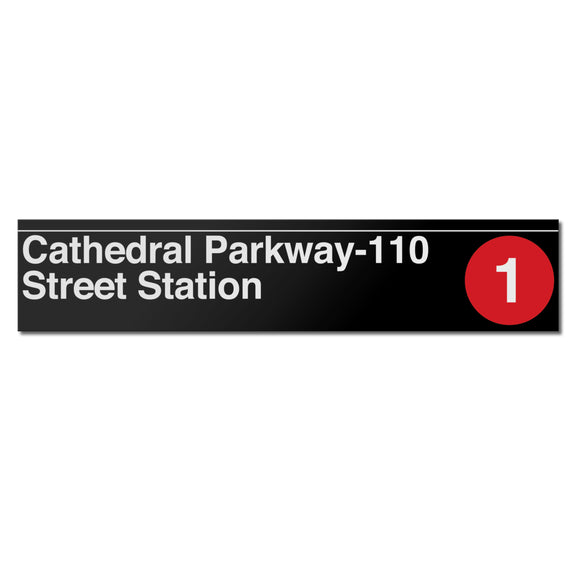Cathedral Parkway (110 Street) (1) Sign