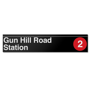 Gun Hill Road (2 5) Sign