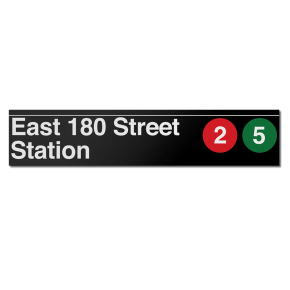 East 180 Street Sign