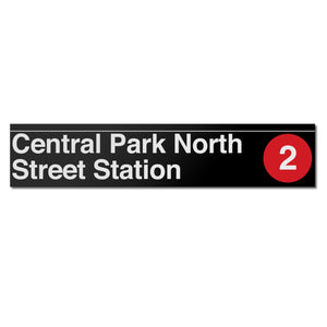 Central Park North (110 Street) (2) Sign